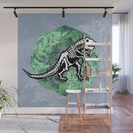 T. Rex Fossil Wall Mural