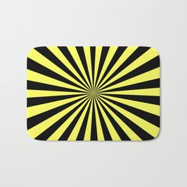 Starburst (Black & Yellow Pattern) Bath Mat
