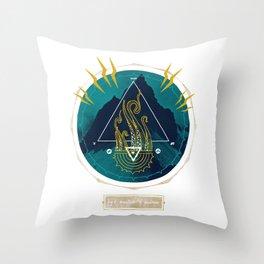 The Mountain o Madness Throw Pillow