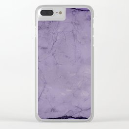 Crushed velvet. Clear iPhone Case