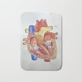 Watercolor Heart Bath Mat