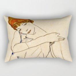 Egon Schiele - The Dancer 1913 Rectangular Pillow