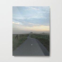 Sunrise dutch bike patch Metal Print