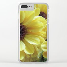 Yellow Daisy Mums Clear iPhone Case
