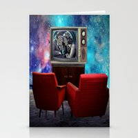 tv Stationery Cards featuring Television by Cs025