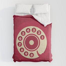 Vintage Red Telephone Comforters