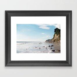 1000 Steps Beach Framed Art Print