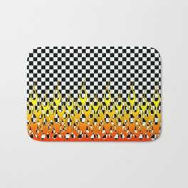 CHECKERED FLAMES Bath Mat