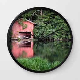 Mirror Lake House Wall Clock
