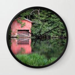 Mirror Lake House Wall Clock