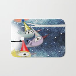 Birds following the stars Bath Mat