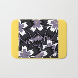 Purple floral jam Bath Mat