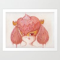 buffy Art Prints featuring Melted Buffy by MissyandFriends