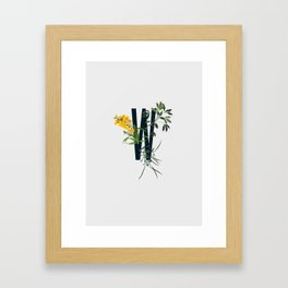 W plants Framed Art Print