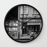 tattoos Wall Clocks featuring Montana Tattoos by Melissa Batchelder Photography