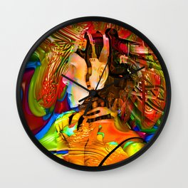Robot Connection Wall Clock