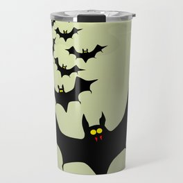 Bats and Moon Travel Mug