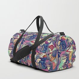 Midnight Floral Abstract Duffle Bag