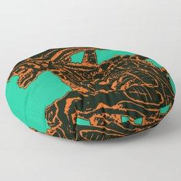Tri Color Alien Floor Pillow