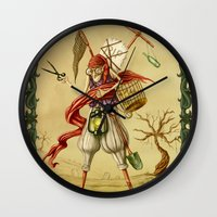 death Wall Clocks featuring Death by Alexander Skachkov