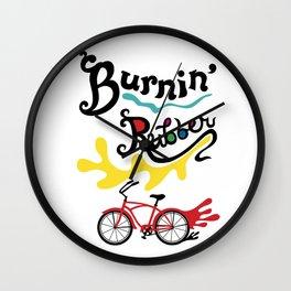 Burning Rubber bike Wall Clock