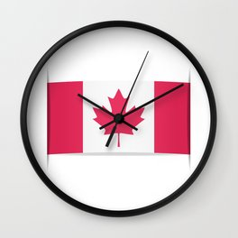 Flag of Canada. The slit in the paper with shadows. Wall Clock