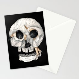 Tarot Reader Girl - Optical Illusion Skull Stationery Cards