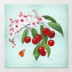 Cherries on Vintage  Canvas Print