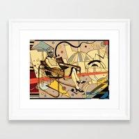 kandinsky Framed Art Prints featuring Bauhaus Kandinsky Mash Up by Sam Parr
