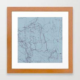 Contour Mapping v.2 Framed Art Print