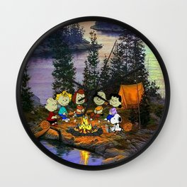 snoopy camp squad Wall Clock
