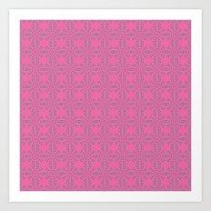 Dragonfruit Pink Circles Art Print