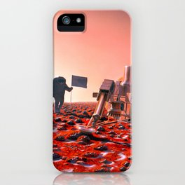 Concept Art of Future Manned Mars Mission iPhone Case
