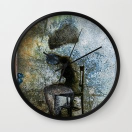 vintage instant print type 55 black and white Wall Clock