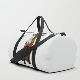 fox love off white Duffle Bag