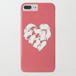 Bunny heart iPhone Case