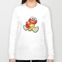 elmo Long Sleeve T-shirts featuring Baby Elmo & Dorothy by BinaryGod.com