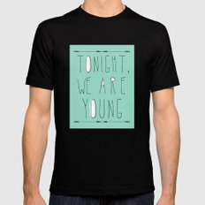 We Are Young Black MEDIUM Mens Fitted Tee