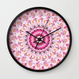 Bloom Bright Flower Photography Flat Lay Wall Clock