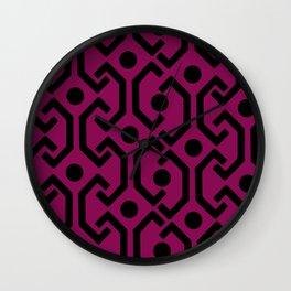 Ethnic Pattern (Purple) Wall Clock
