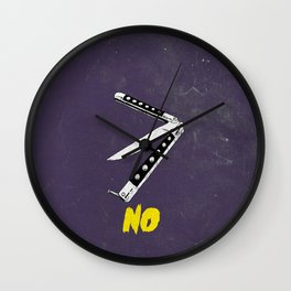 OH NO YOU DIDN'T 2 of 4 Wall Clock