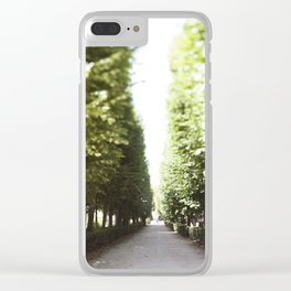 The Garden Paths in France Clear iPhone Case