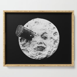 A Trip to the Moon 1902 - Artwork for Wall Art, Prints, Posters, Tshirts, Men Women Kids Serving Tray