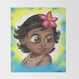 Baby Moana Throw Blanket