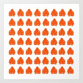 Vermillion Moods Buddha Boys Art Print