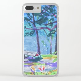 summer camp Clear iPhone Case