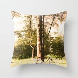 Gone Cycling Throw Pillow