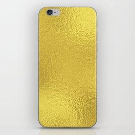 Simply Metallic in Yellow Gold iPhone Skin