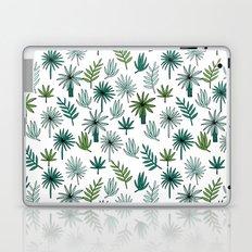 Tropical palm leaves minimal summer pattern print design by andrea lauren Laptop & iPad Skin