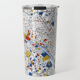 Paris Mondrian Map Art Travel Mug